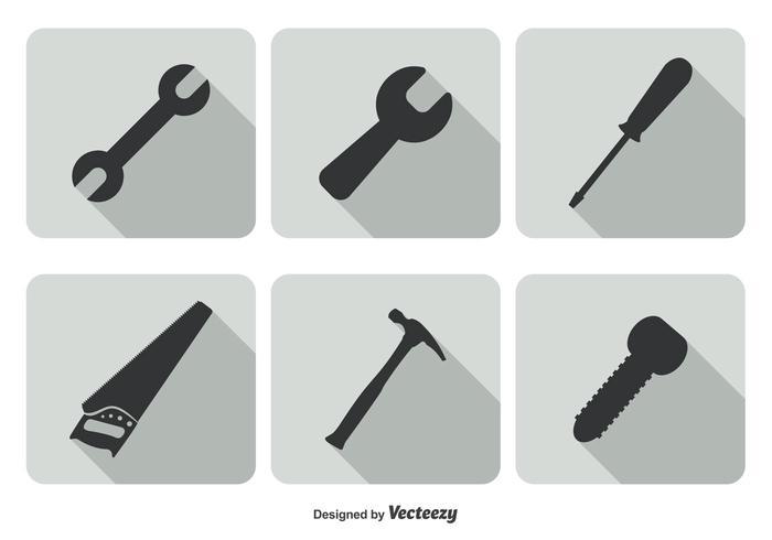 Conjunto de ícones da ferramenta na moda