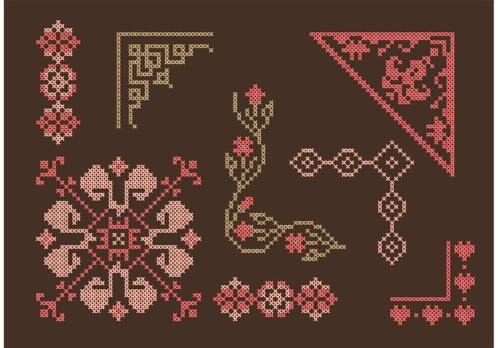Cross Stitch Border Set