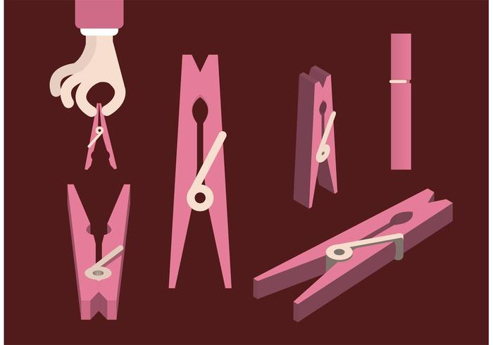 Clothespins Free Vector