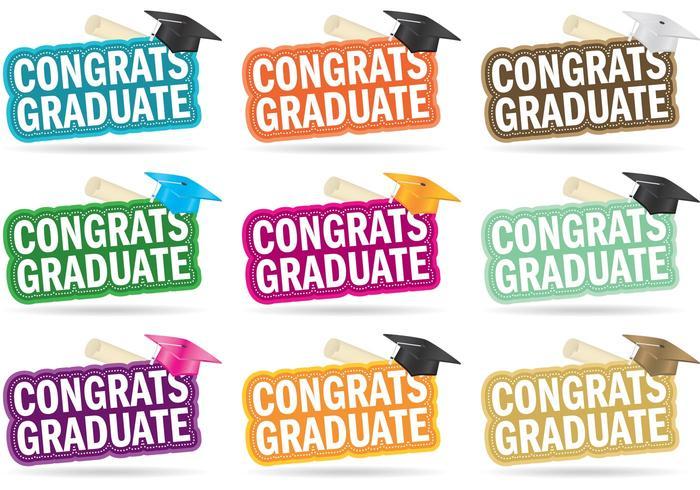 Glückwunsch Graduate Vectors