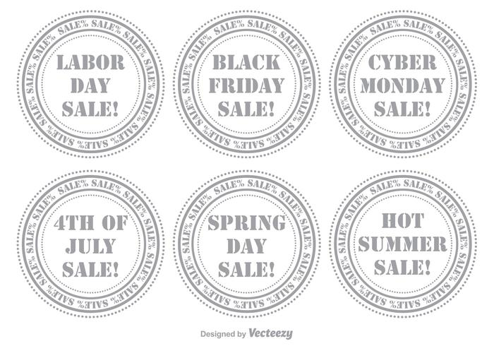 Set di francobolli di vendita