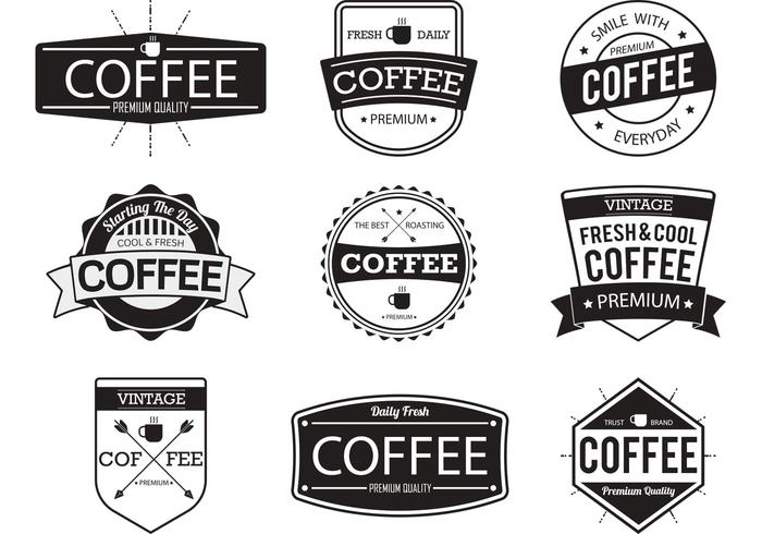 Coffee Badge Vectors