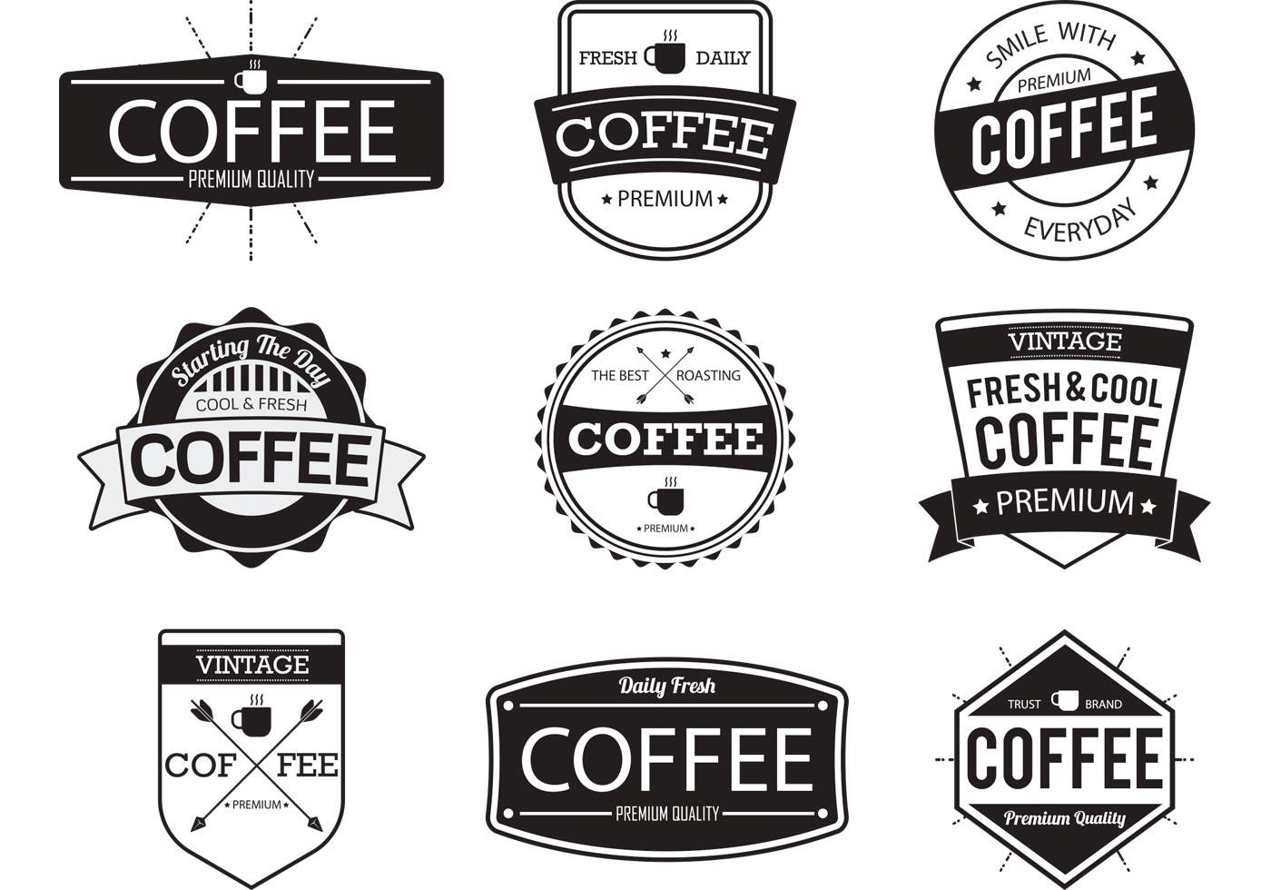 Coffee Badge Vectors - Download Free Vectors, Clipart ...