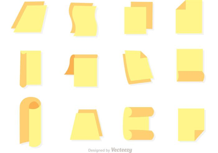 Icônes plates en papier