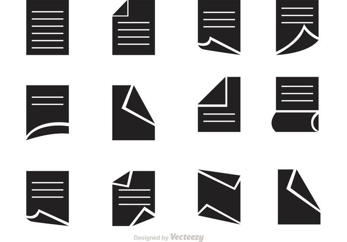 Iconos de vector de papel