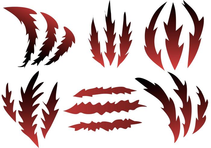 Ripping Claws Vector