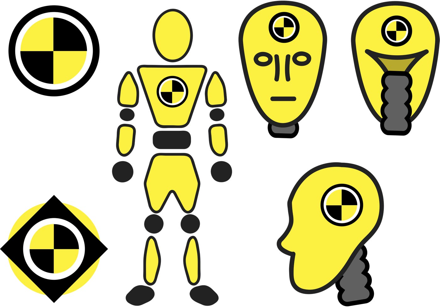 crash dummy vectors download free vector art stock