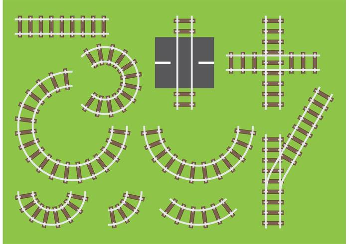 Railroad Track Vectors