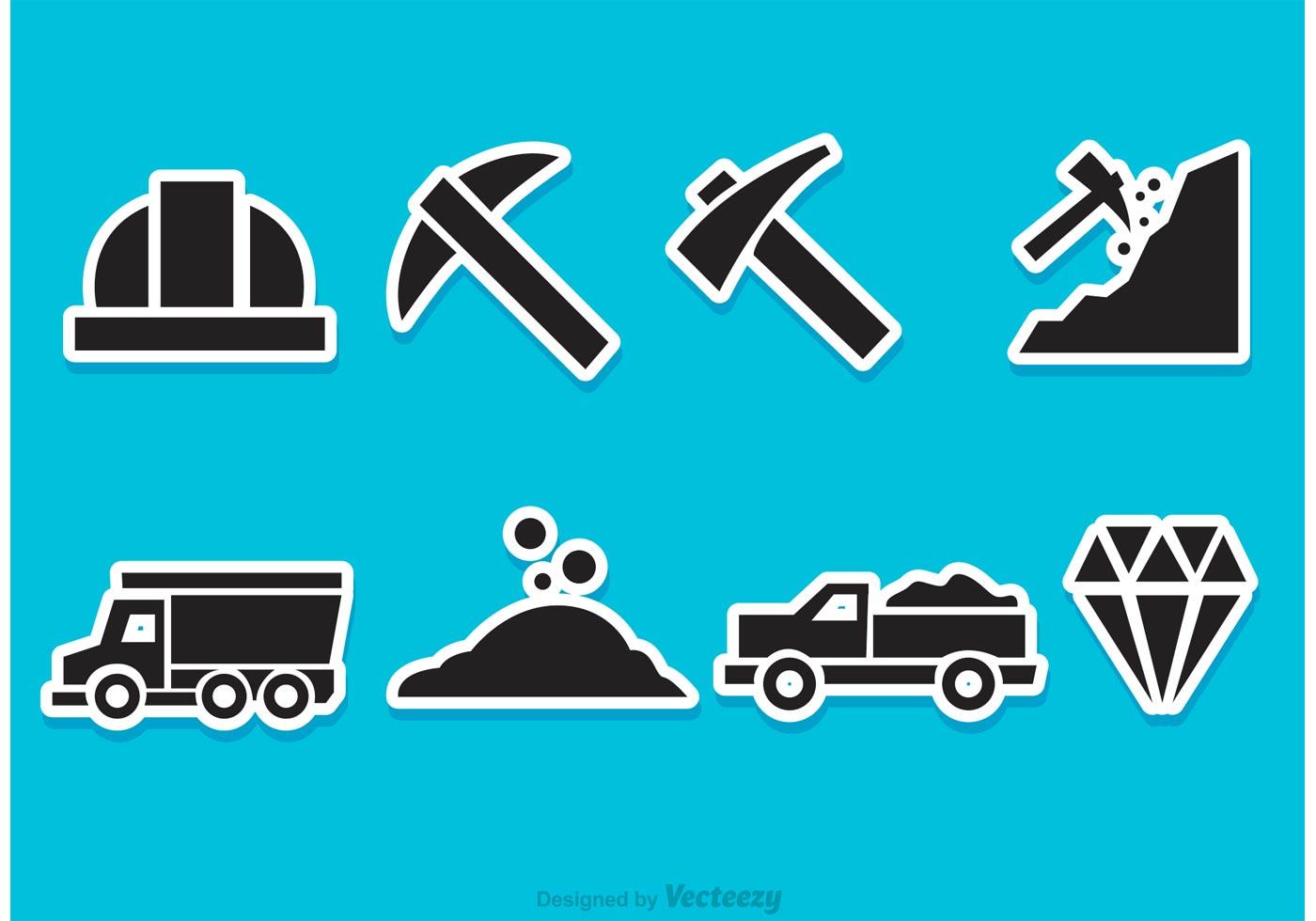 Diamond Mine Vector Icons - Download Free Vectors, Clipart Graphics & Vector Art