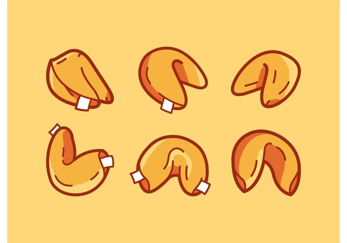 Fortune Cookie Vector Illustrations