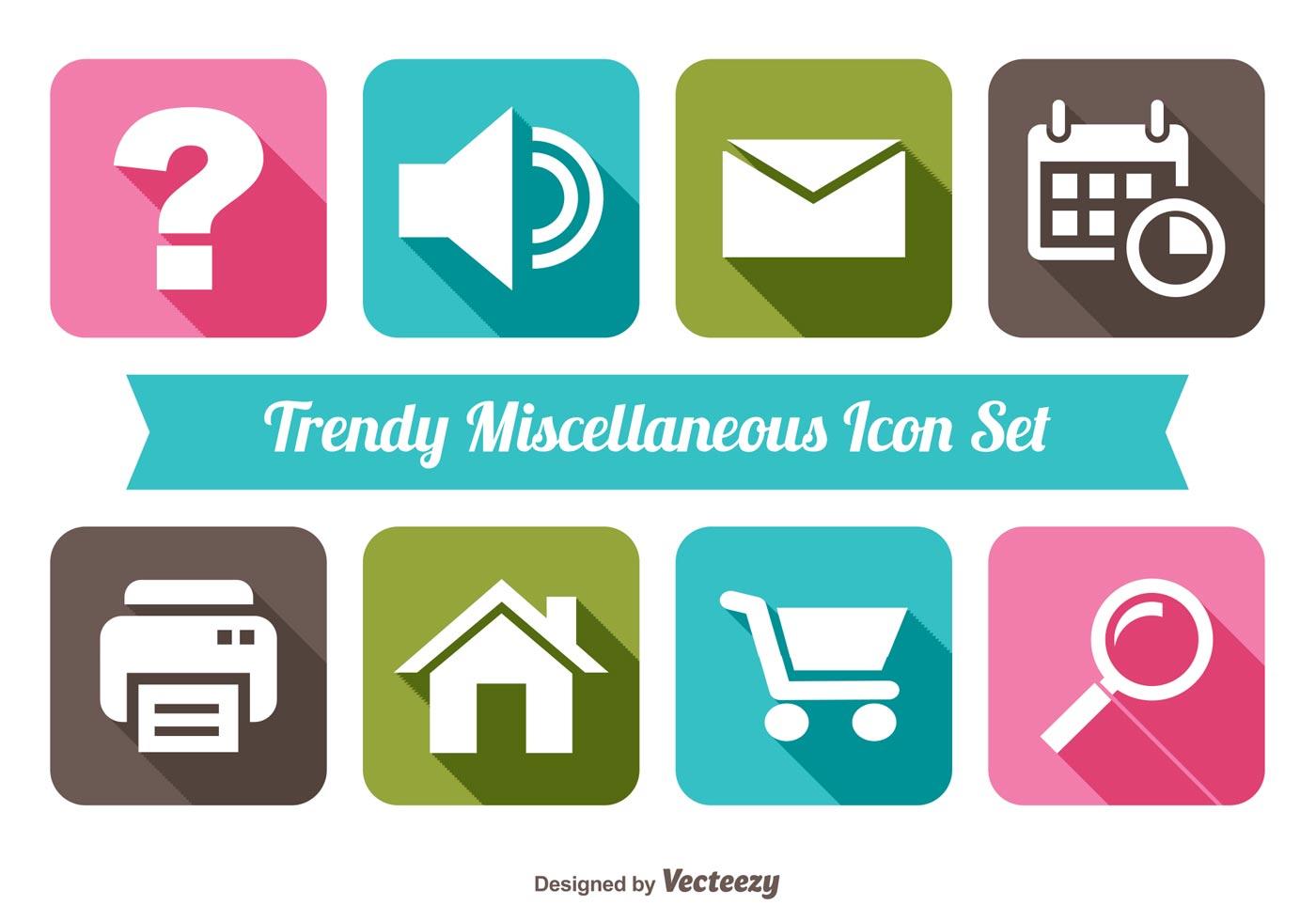 Trendy Miscellaneous Icon Set