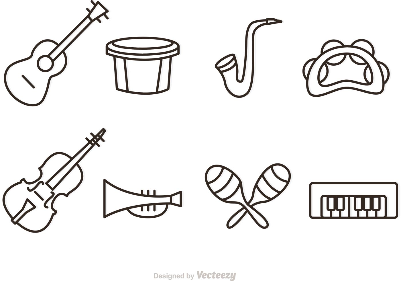 outline music instrument vector icons download free matching clipart matching clipart