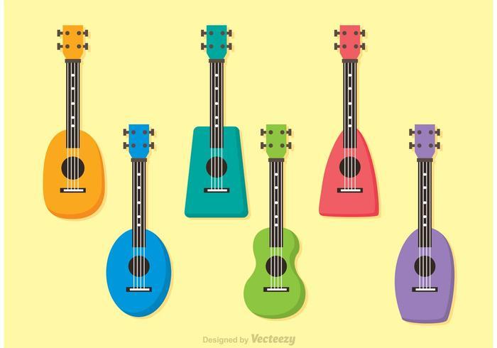 Colorful Ukulele Vectors