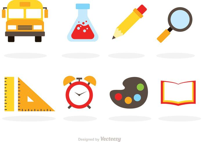 Flat School Vector Icons