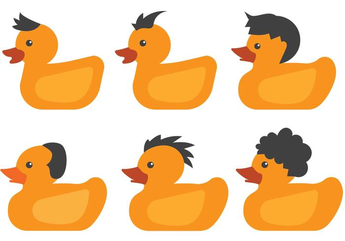 Hairy Rubber Duck Vectors