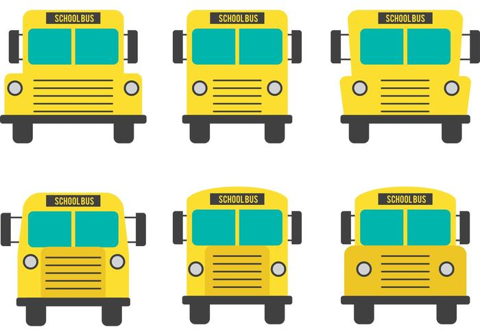 Front View School Bus Vectors