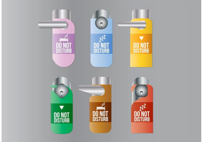 Do Not Disturb Vector Signs