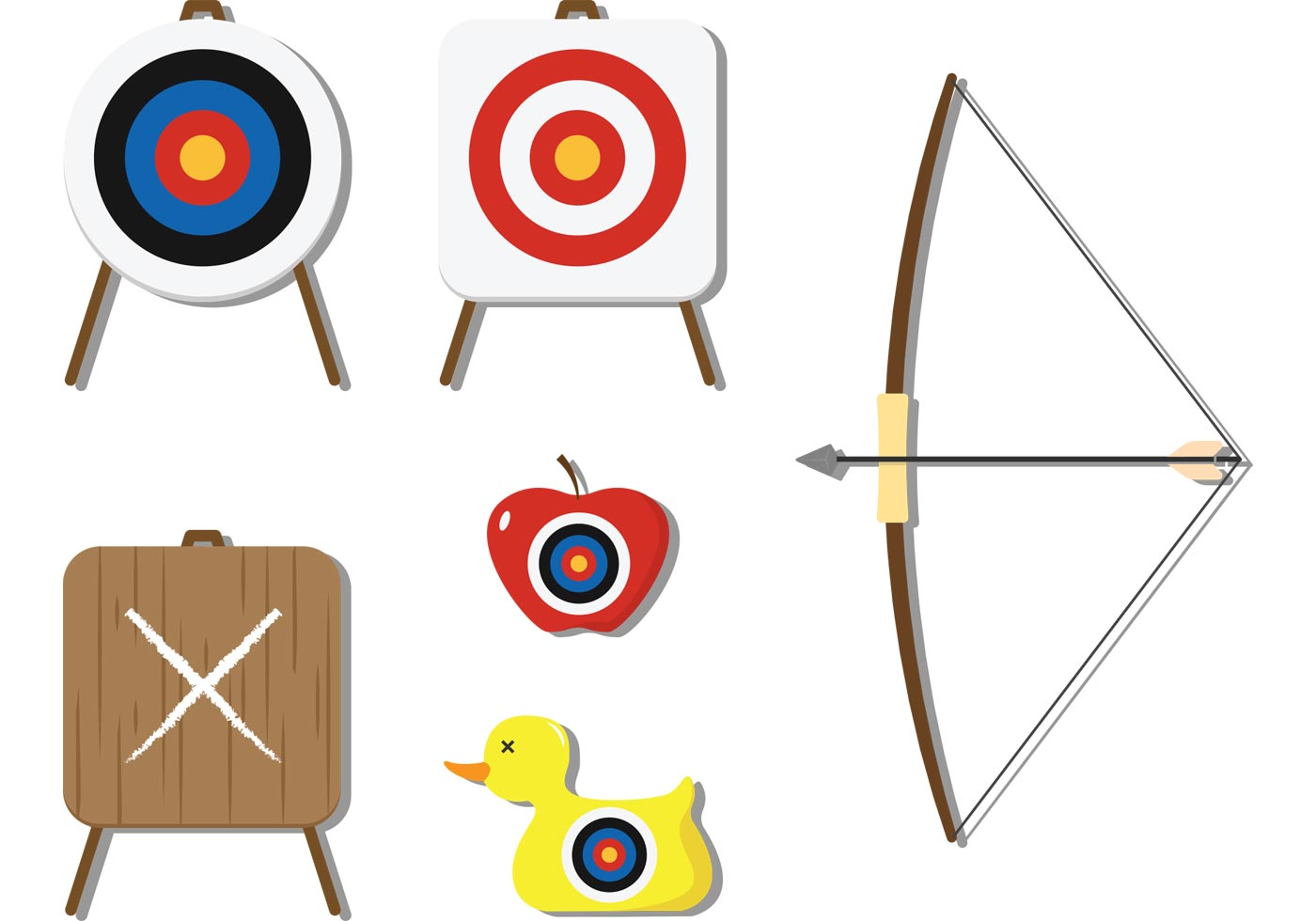 Archery and Target Vectors - Download Free Vectors ...