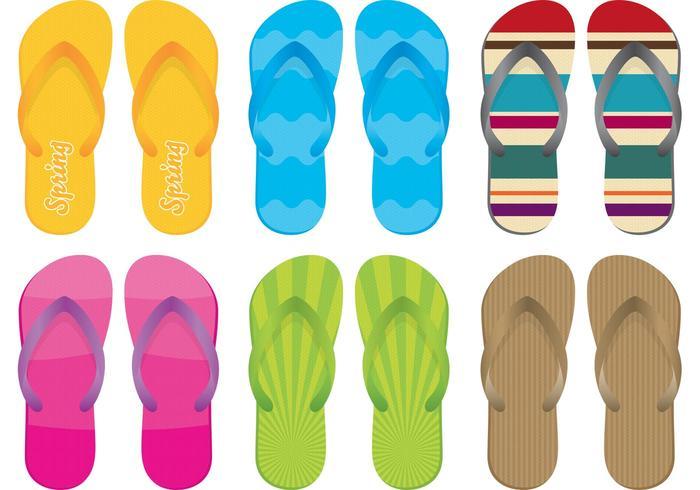 Sandals and Flip Flop Vectors