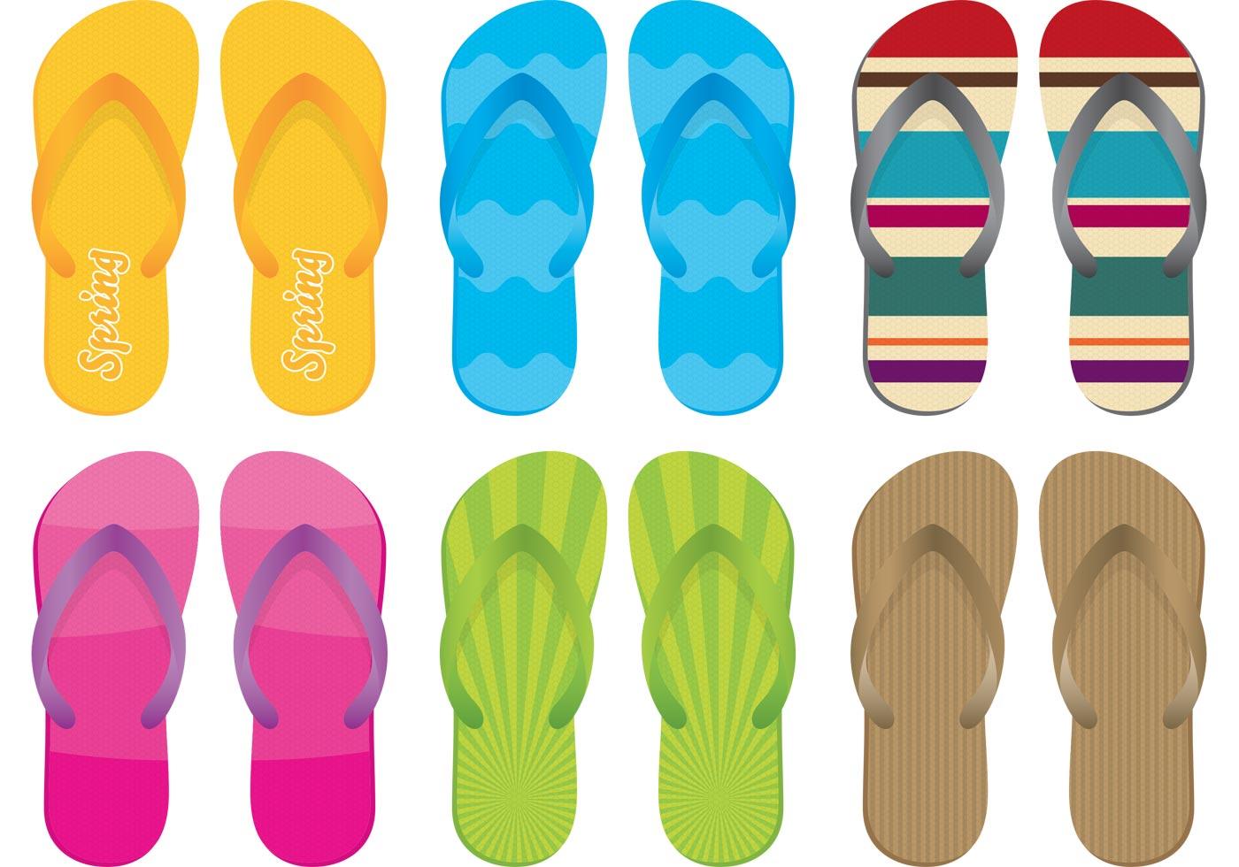 Sandals And Flip Flop Vectors Download Free Vector Art