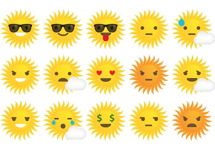 Sun Vector Emoticons