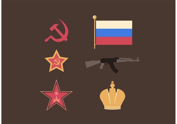 Ryssland Symboler Gratis Vektor