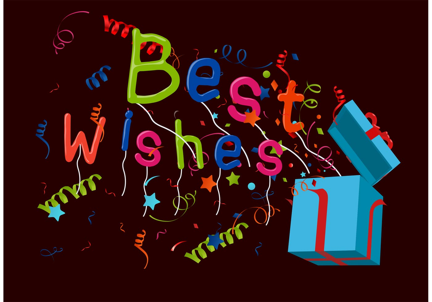 Best Wishes Vector Background