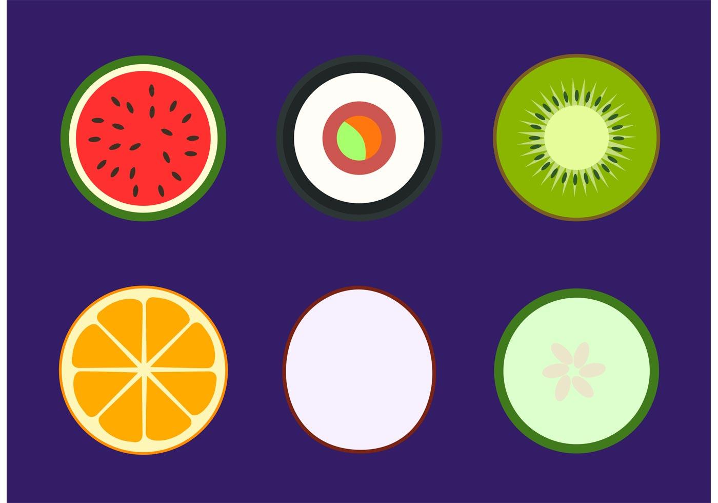 Simple Healthy Food Vectors - Download Free Vectors ...