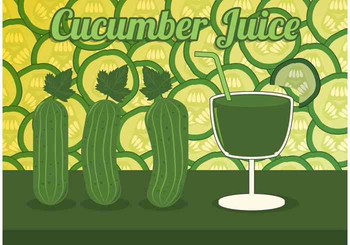 Cucumber Juice Vector