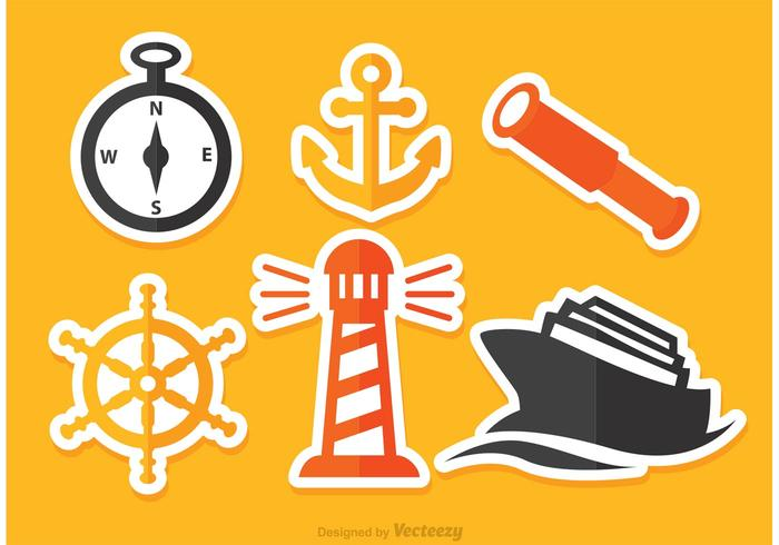 Vector Nautical Flat Icons