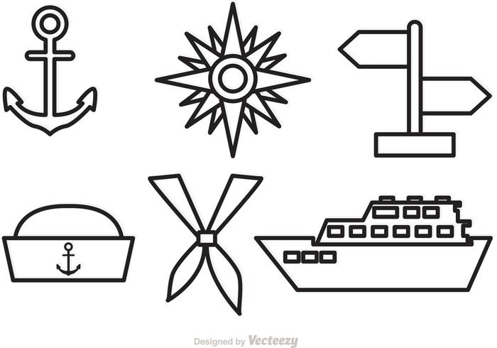Nautical Vector Outline Icons