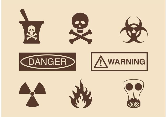Free Danger And Warning Vector Icons