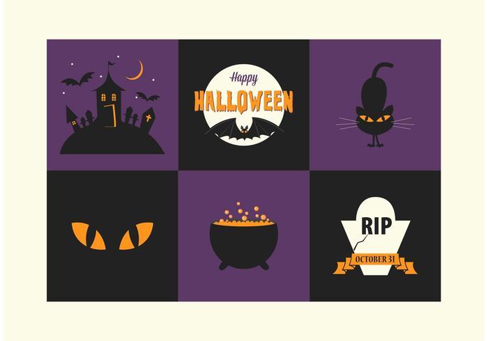 Kostenlose Halloween-Vektor-Icons vektor