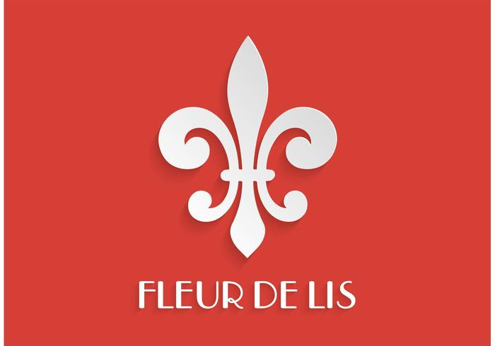 Paper Fleur De Lis Vector Illustration
