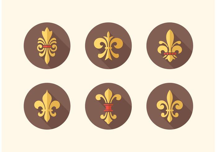 Pacote livre de ícones vetoriais Fleur De Lis