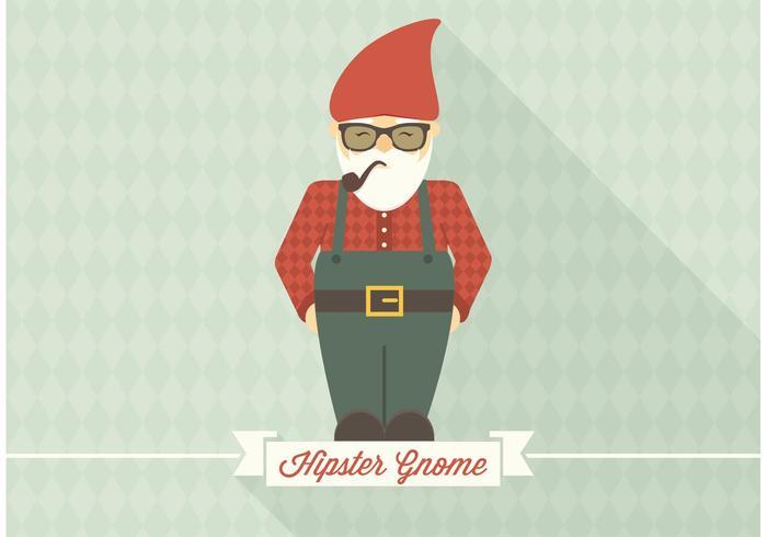 Freier Hipster Gnome Vektor