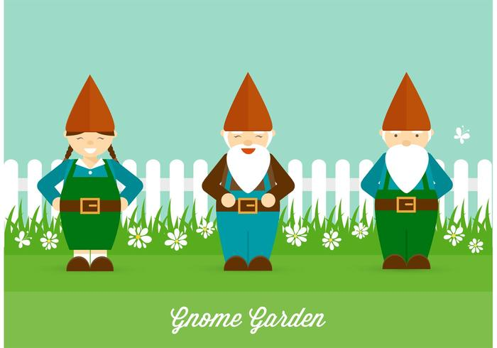 Gnome Garten Vektor