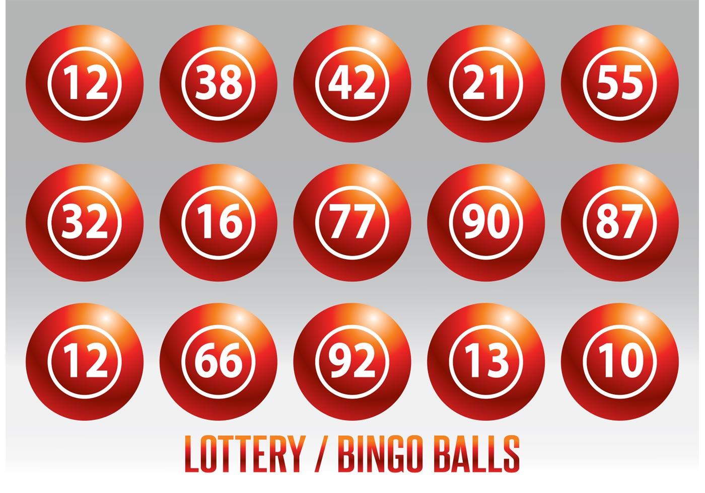 Lottery Bingo Ball Vector Set Download Free Vector Art