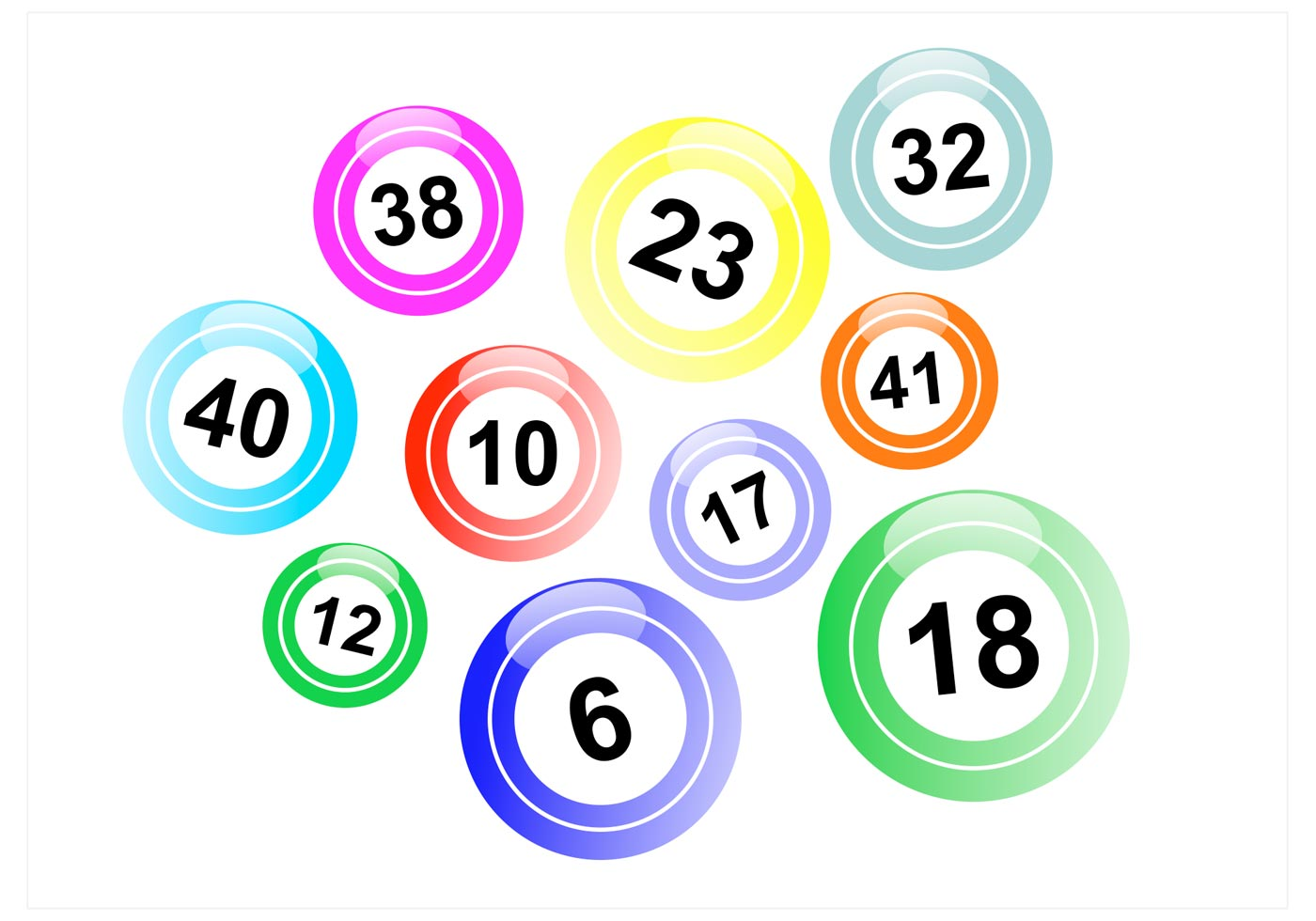 Lotto balls vector pack download free vector art stock graphics