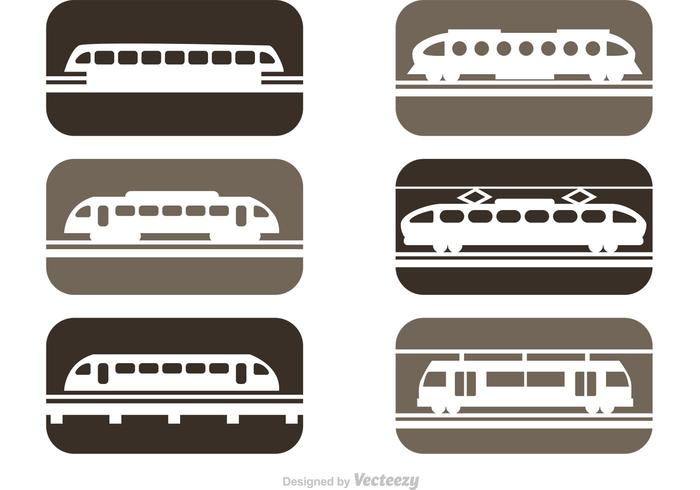 Vector Rail Trains Icons