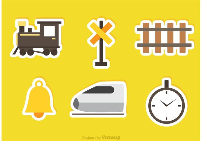 Railway Vector Sticker Icons