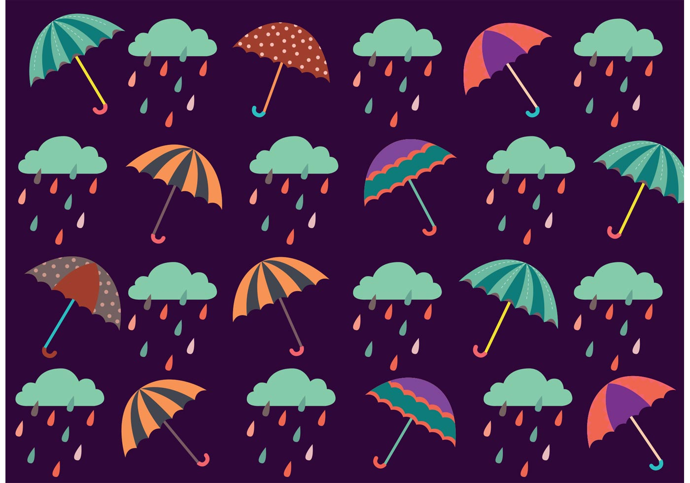 Spring Shower Pattern Free Vector Art - (19231 Free Downloads)