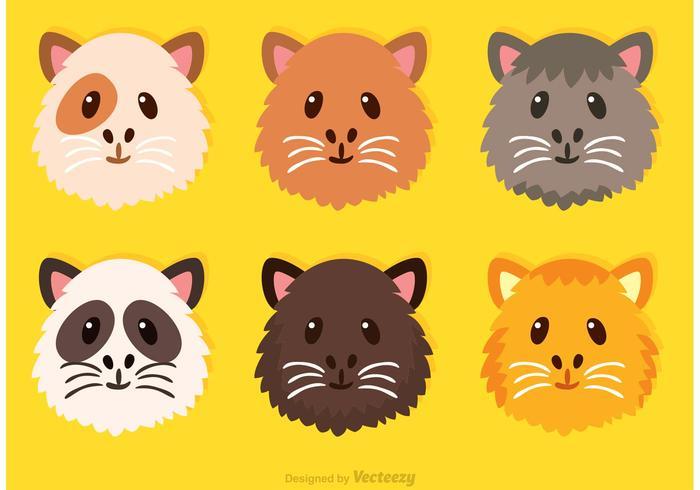 Guinea Pig Cute Face Vectors