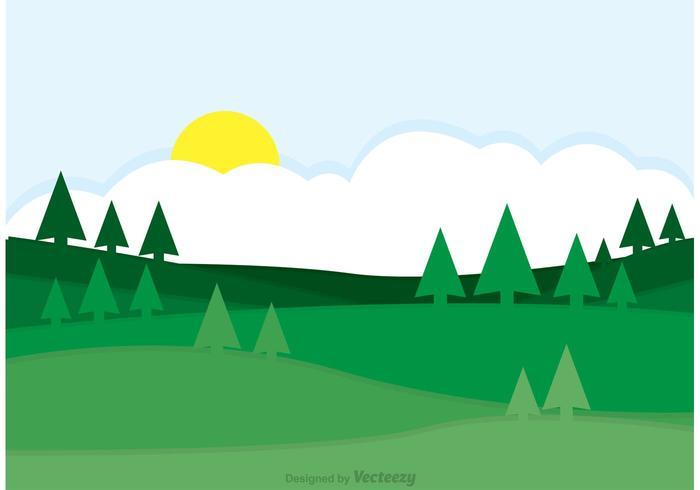 Groene Rolling Hills Landscape Vector