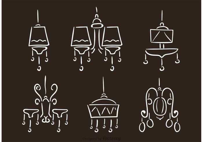 Vecteurs de lustre dessinés à la main