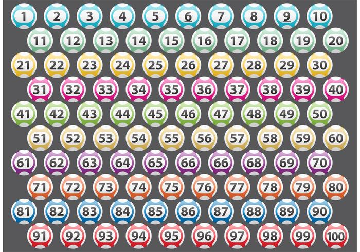Number Lotto Balls Vectors