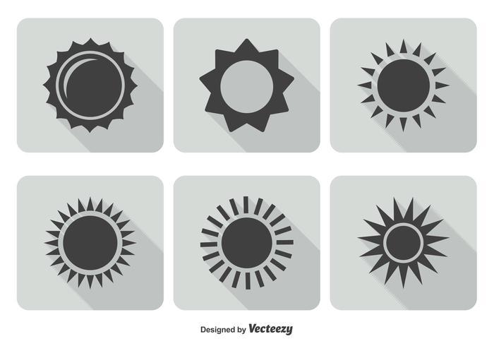 Trendig Sun Icon Set vektor