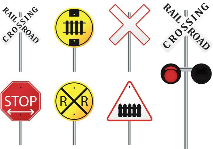Rail Road Vector Signs