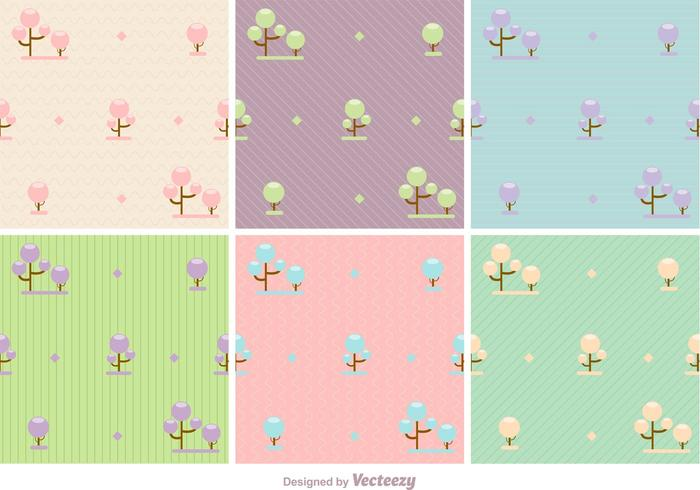 Pastel Forest Vector Backgrounds