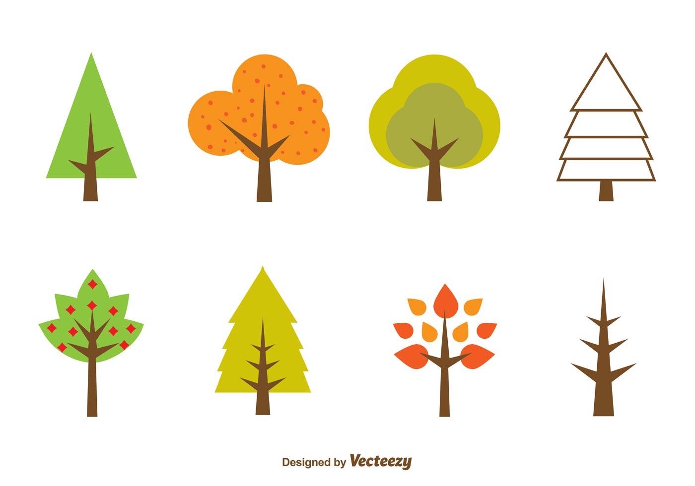 seasonal minimal tree vectors download free vector art
